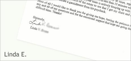 Linda E's letter